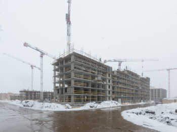 жилой комплекс Юнтолово ход строительства - Март 2019