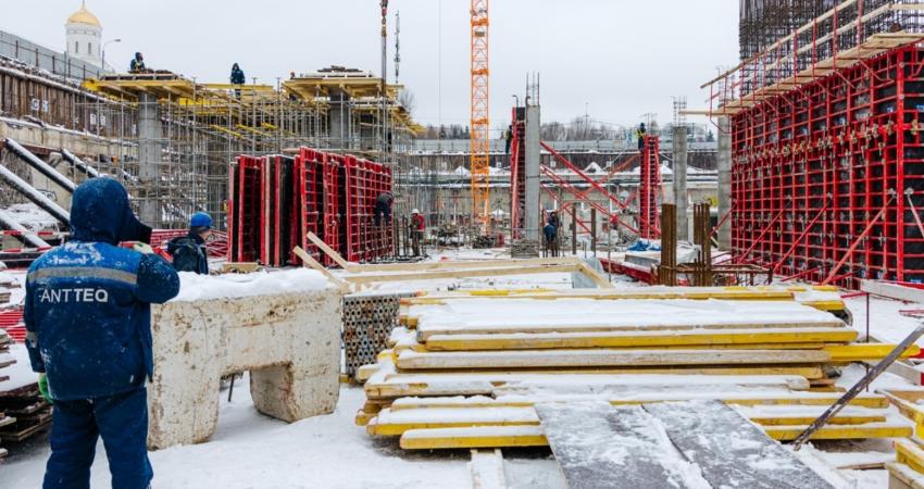 фото строительства жк Victory Park Residences Январь 2021