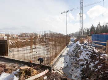 фото строительства жк Юнтолово Март 2018
