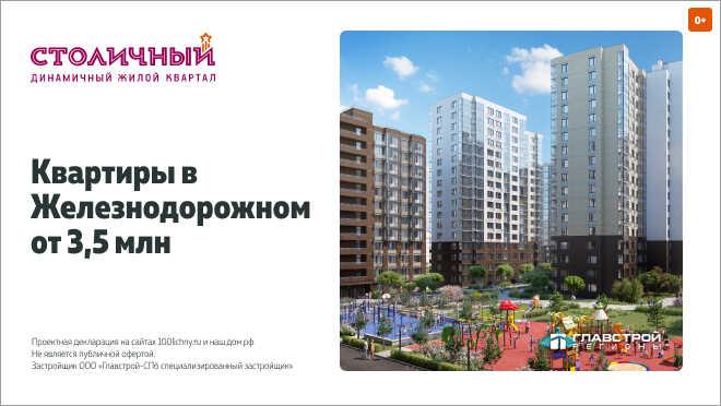 ЖК «Столичный» — квартал со своей инфраструктурой Балашиха, 23 минуты на «Спутнике»