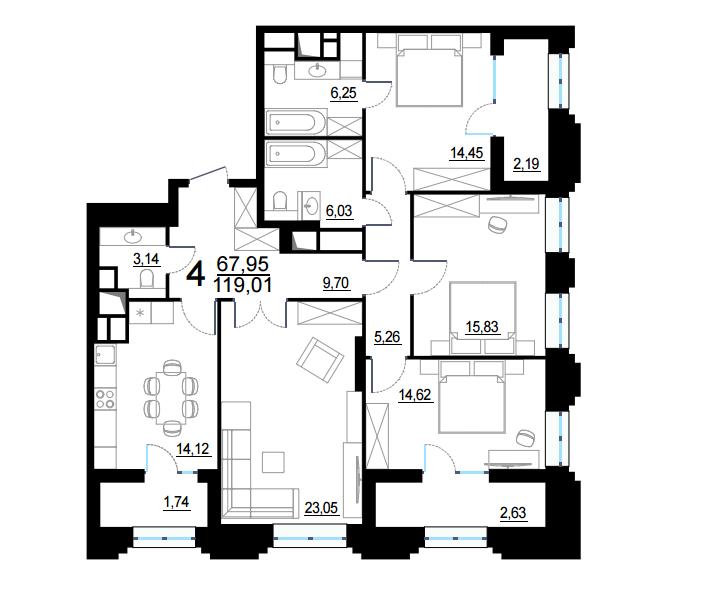 Продажа двухкомнатных квартир в Королеве